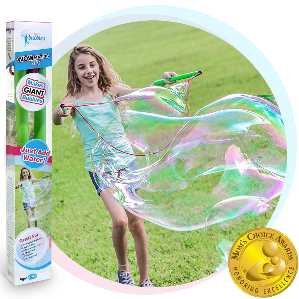 WOWmazing Giant Bubble Kit: Big Bubble Wands and Concentrate