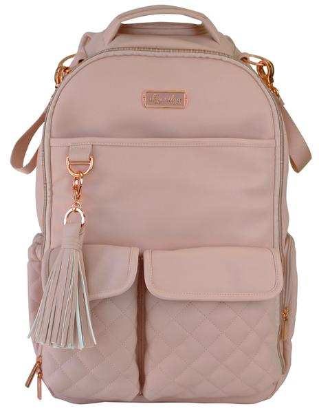 Itzy Ritzy Boss Diaper Bag Backpack Blush