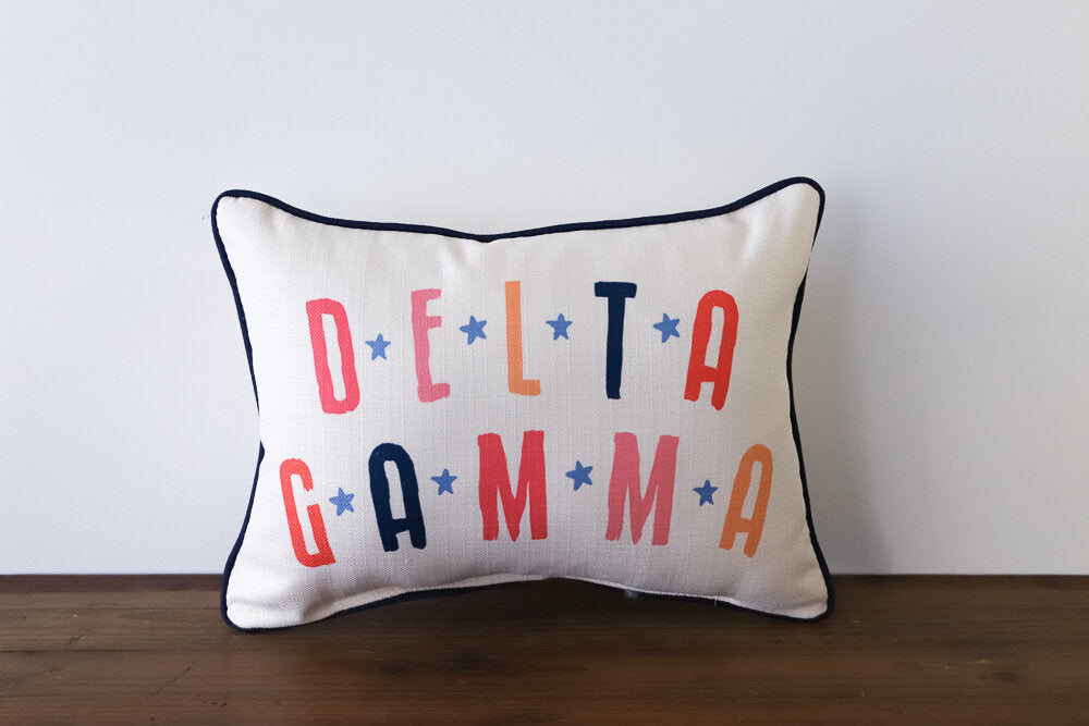 Little Birdie Arts Personalized Pillow - Sorority Name