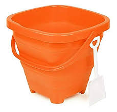 Packable Pails - Starfish Orange Pail with White Shovel