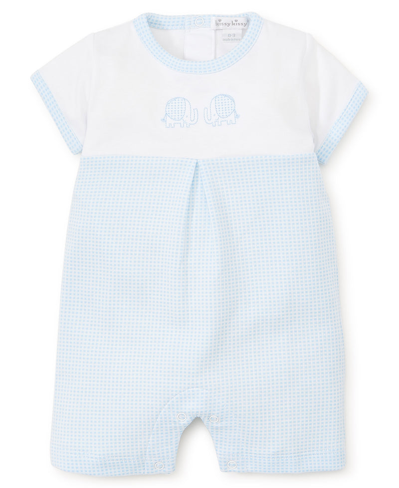Kissy Kissy TRunk Tales Short Playsuit Blue/White