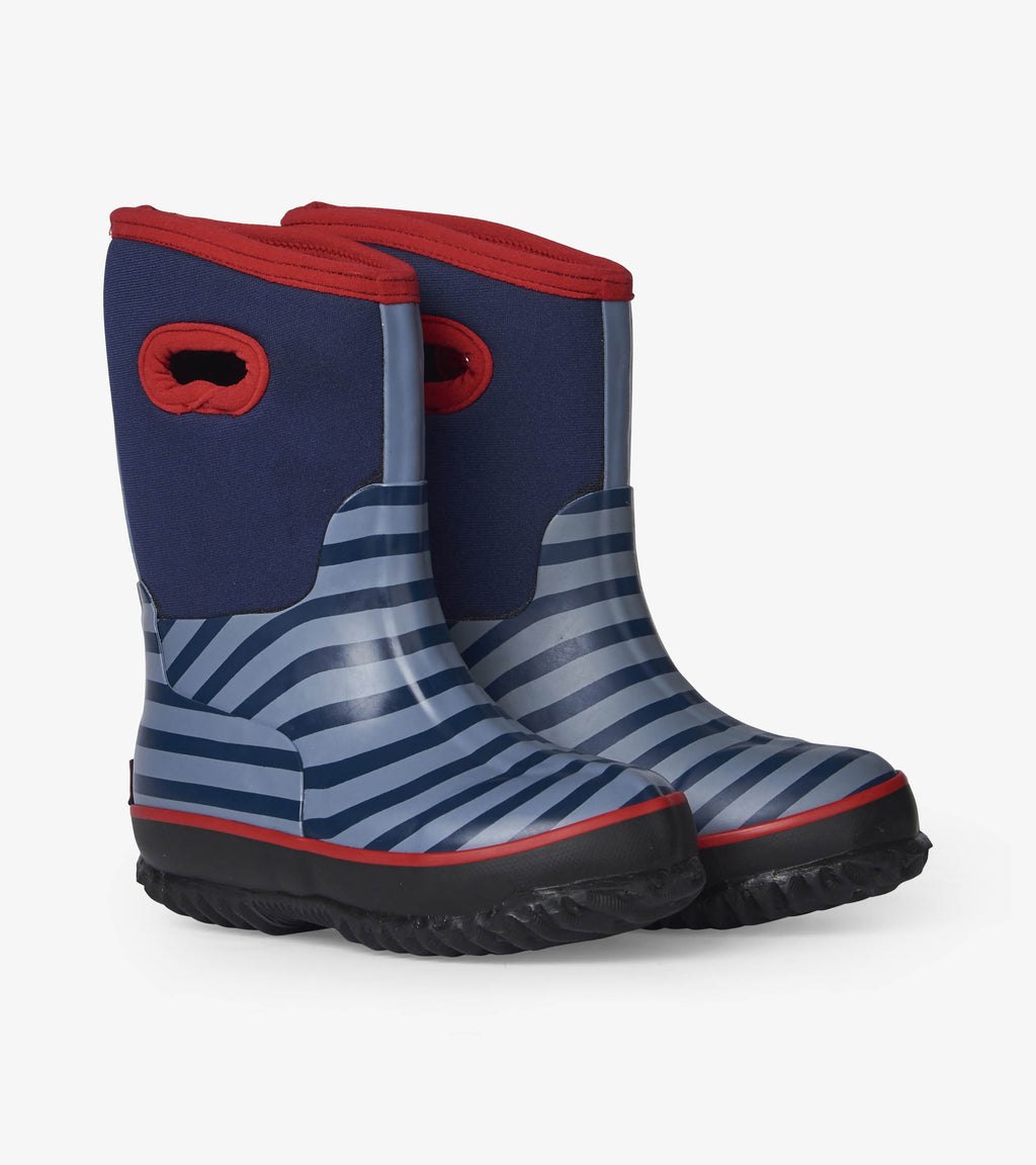 Hatley Blue Stripe All Weather Boot