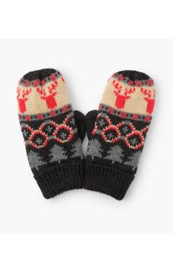 Hatley Winter Mittens - Fair Isle Stag