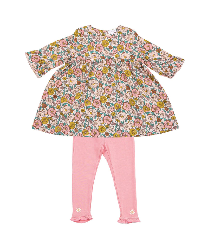 Milkbarn Organic Dress & Legging Set - Bunny