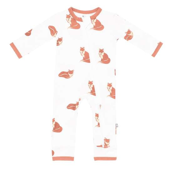 Kyte Baby Printed Zippered Romper - Fox