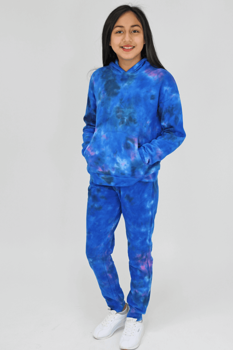 Candy Pink Girls Joggers - Galaxy Tie Dye