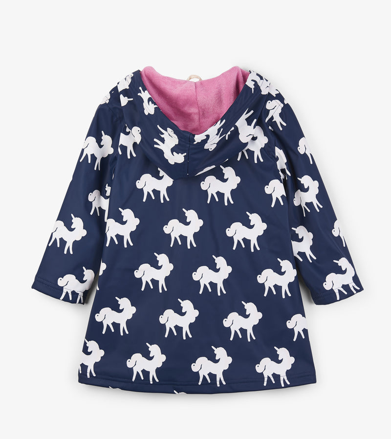 Hatley Colour Changing Unicorns Splashing Raincoat