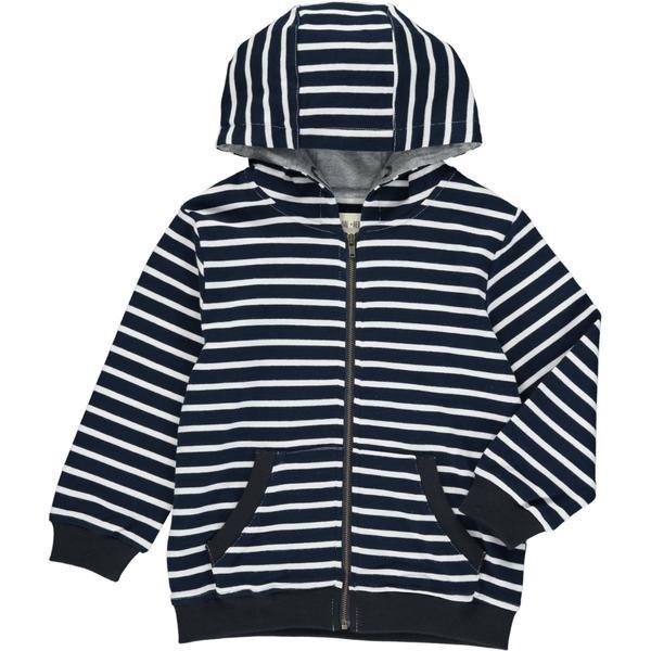 Me & Henry Royal/White Stripe Hooded Top