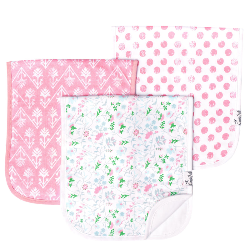Copper Pearl Premium Burp Cloths - Claire