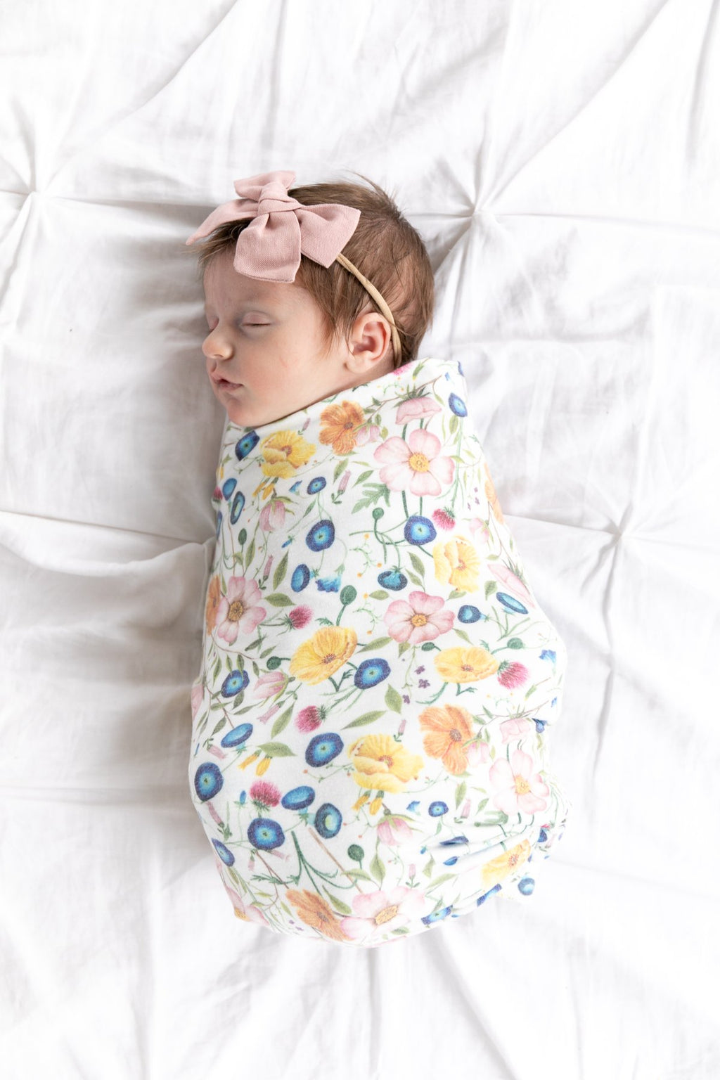 Copper Pearl Knit Swaddle Blanket - Isabella