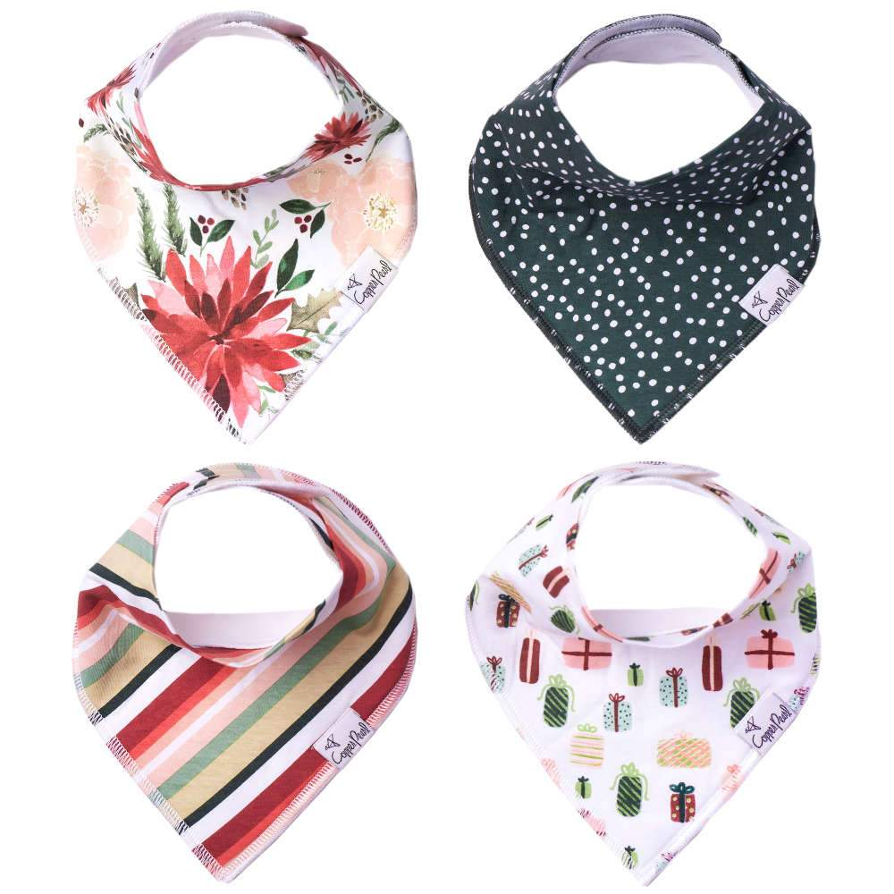 Copper Pearl Baby Bandana Bibs - Joy