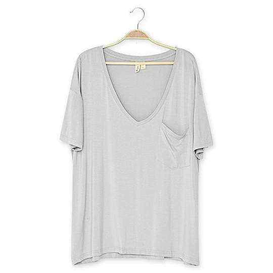 Kyte Baby Womens Relaxed Fit V-Neck - Strom