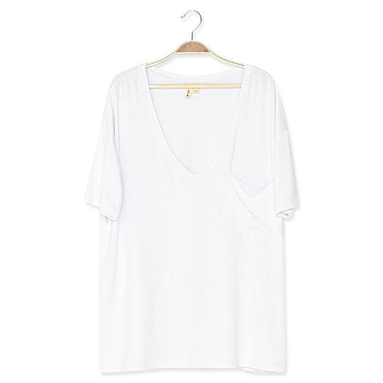 Kyte Baby Womens Relaxed Fit V-Neck - Snow