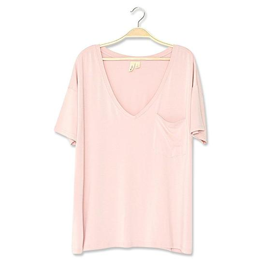 Kyte Baby Womens Relaxed Fit V-Neck - Blush