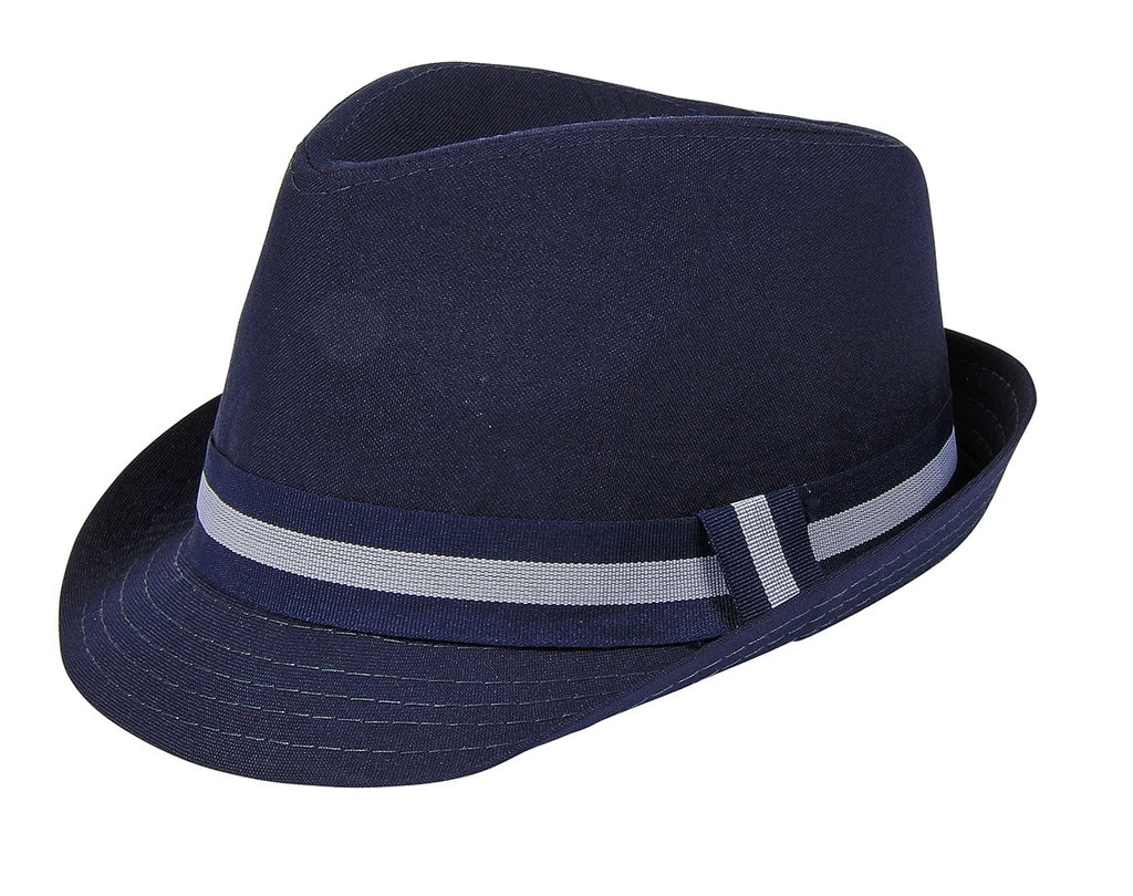 London Bridge - Navy Blue Fedora Hat