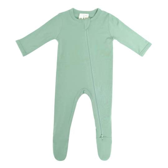 Kyte Baby Zippered Footie - Matcha