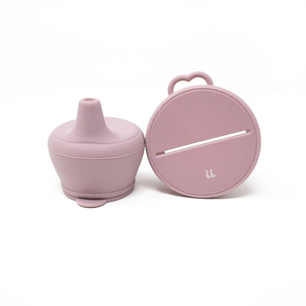 Baby Bar & Co Silicone Snack & Sippy Lid - Mauve