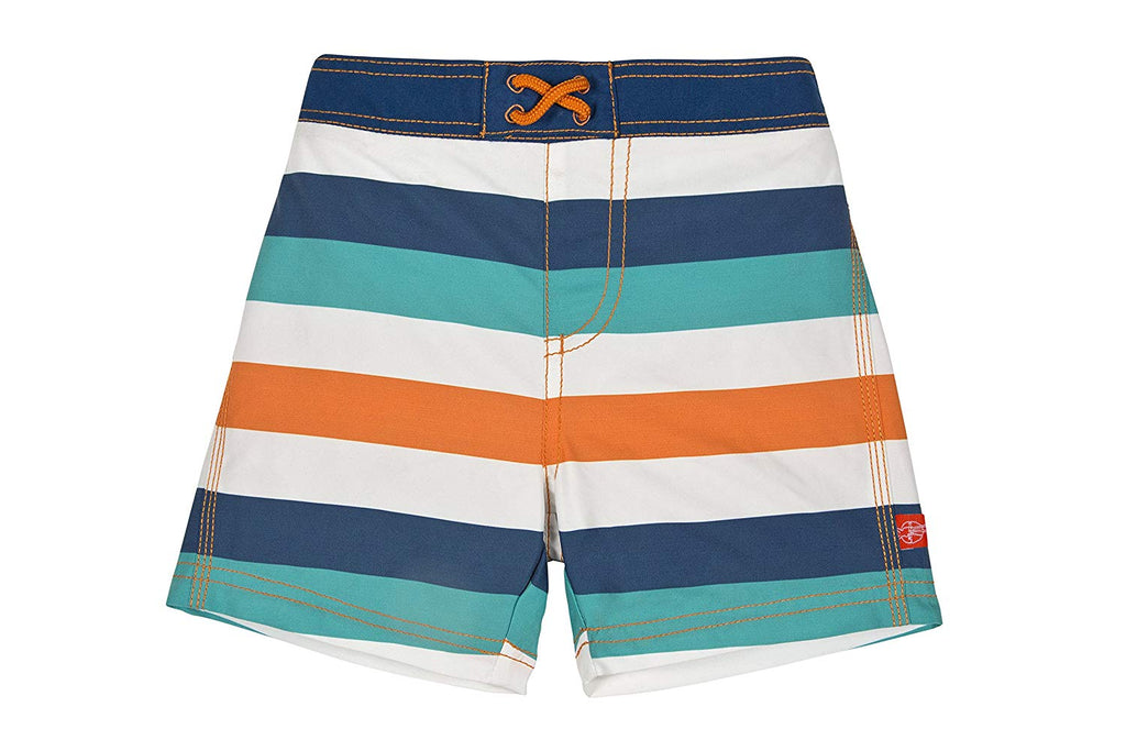 Lassig Board Shorts and Rash Guard Set - Multi Stripes