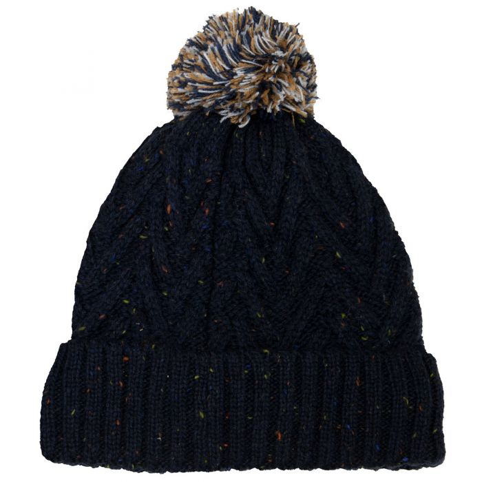 Calikids Multi-Colored Boy's Pom Beanie