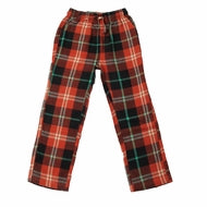 Wes & Willy Plaid Pant - Bullseye Red