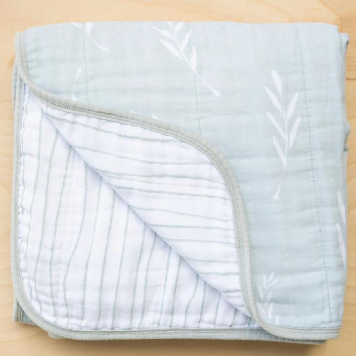 Saranoni 4-Layer Cotton Muslin Quilt - Olive Branch