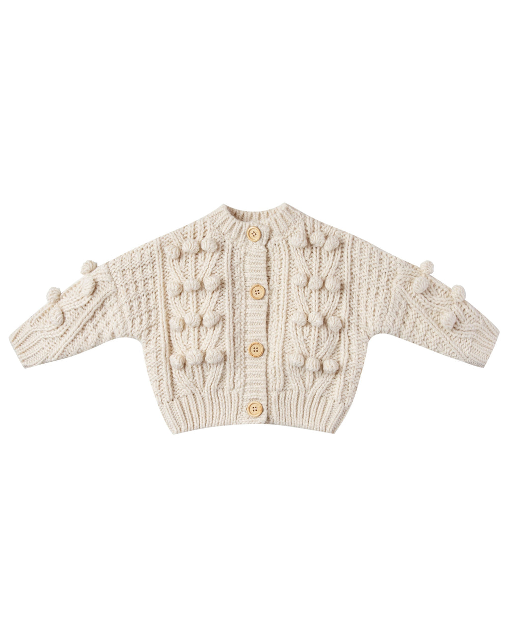 Rylee and Cru AW20- Bobble Cardigan- Natural