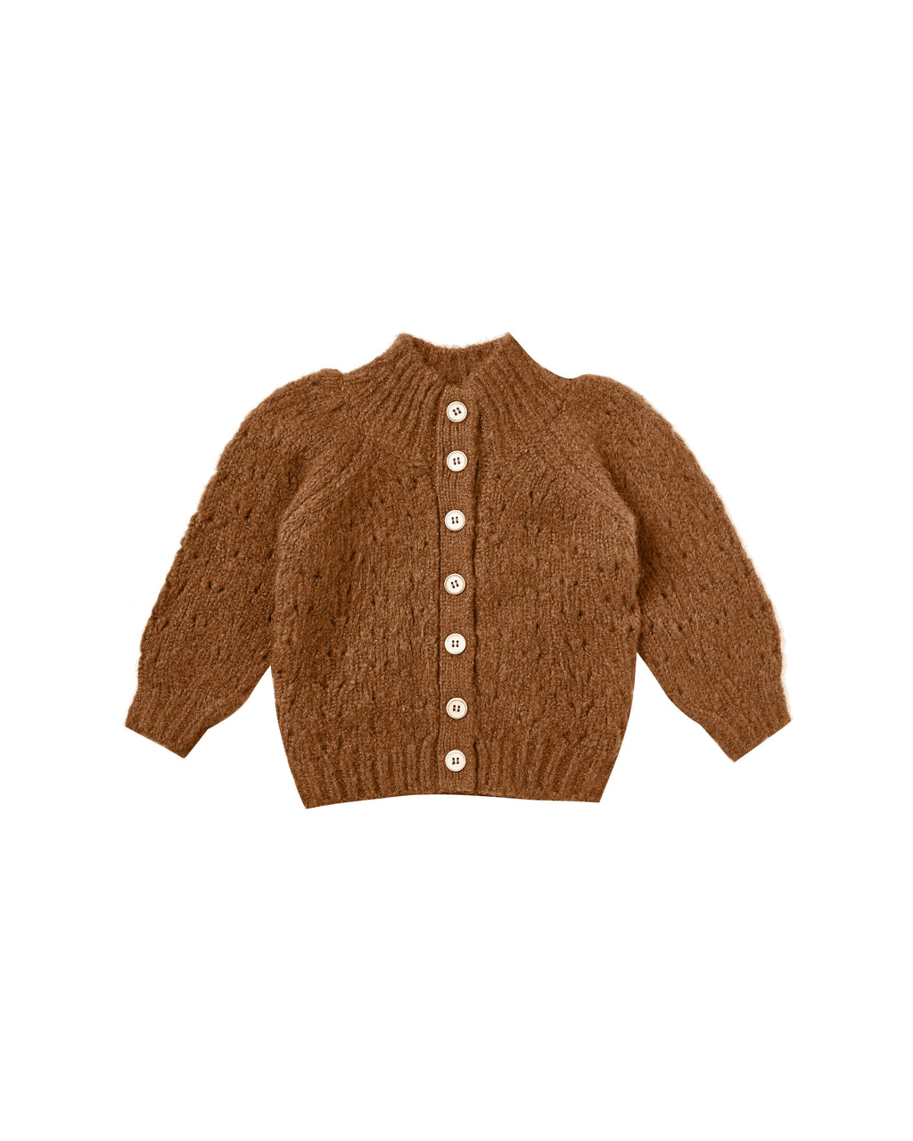 Rylee and Cru AW20- Tulip Sweater Pointelle Knit- Cinnamon
