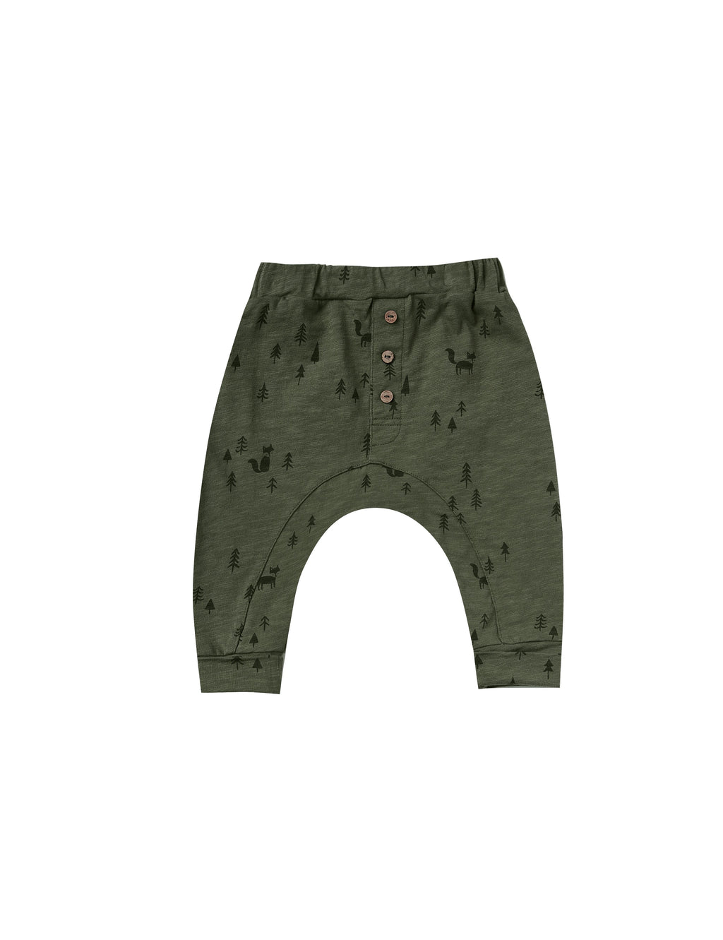 Rylee and Cru AW20- Woods Slub Baby Pant- Forest