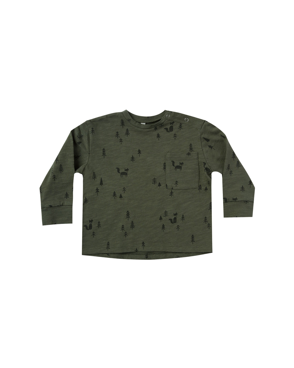 Rylee and Cru AW20- Woods Longsleeve Skater Tee- Forest
