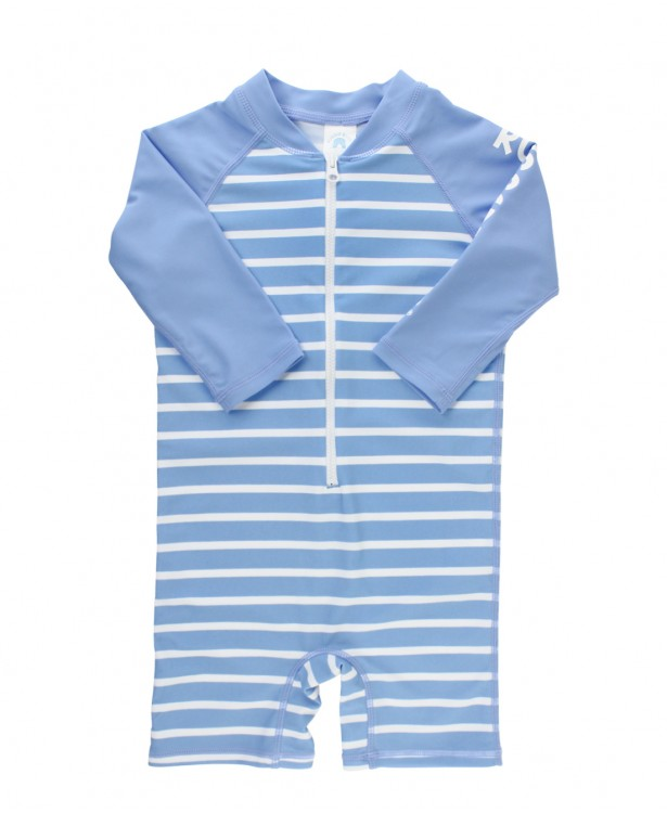 Ruggedbutts Rash Guard Bodysuit - Cornflower Blue Stripe