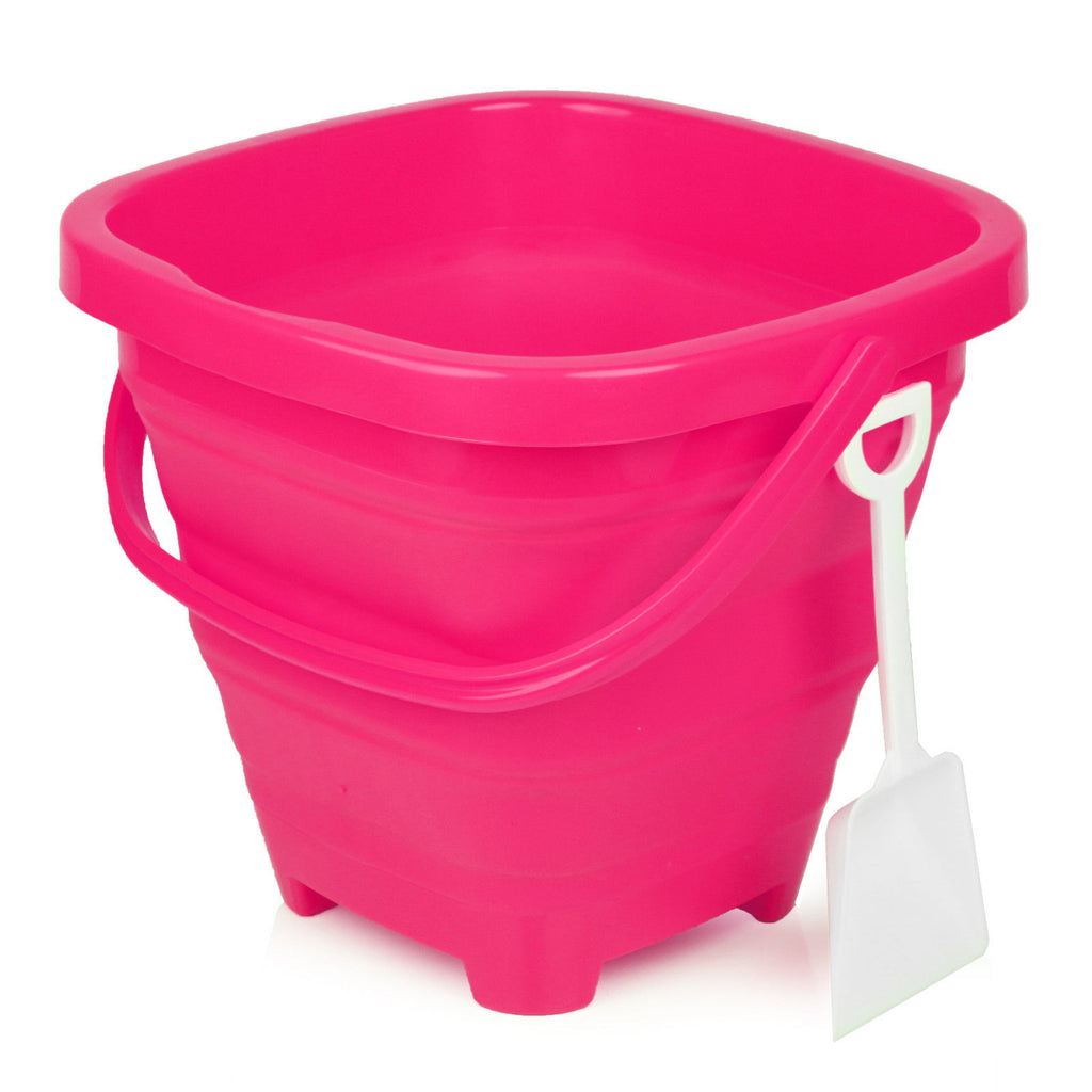 Packable Pails - Paradise Pink Pail with White Shovel