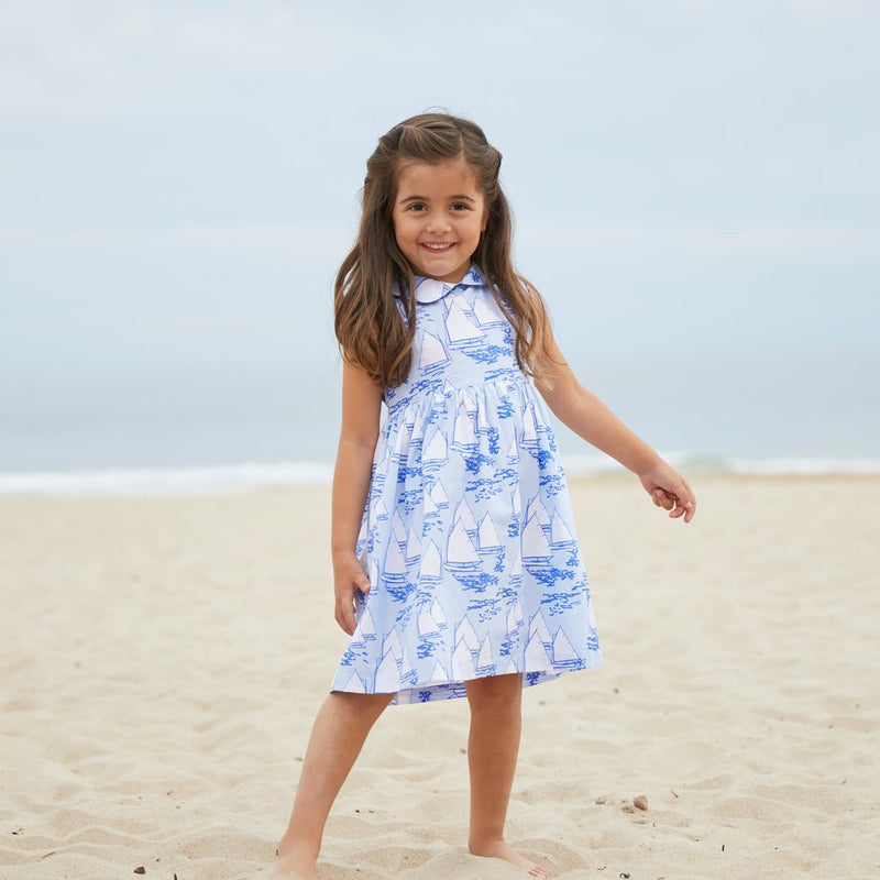 Nantucket Kids Atlantic Cup Dress - Blue