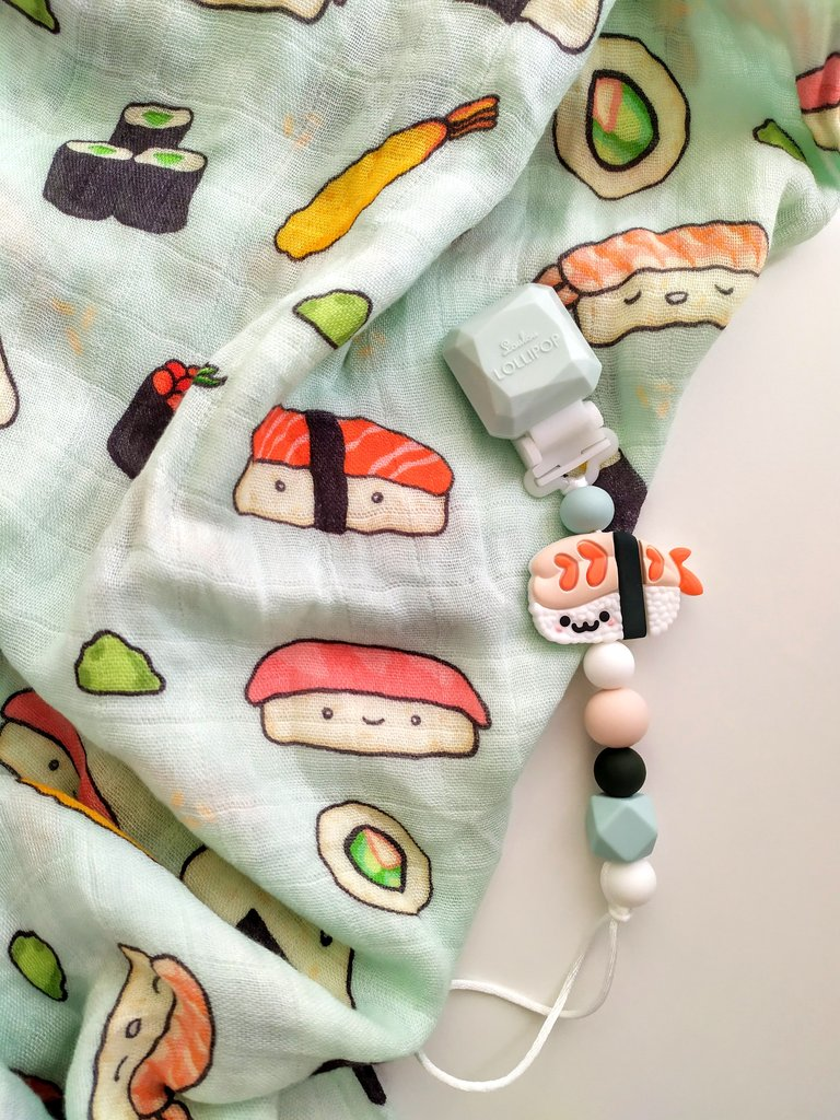 Loulou Lollipop Sushi Pacifier Clip