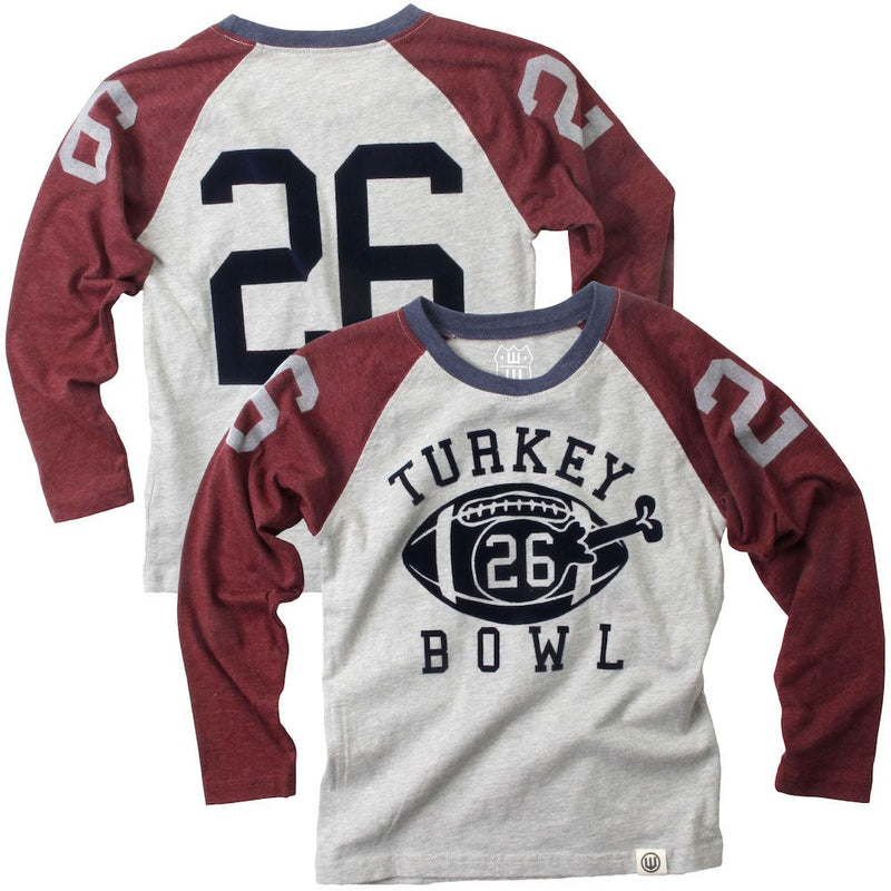 Wes & Willy Raglan Long Sleeve - Turkey Bowl