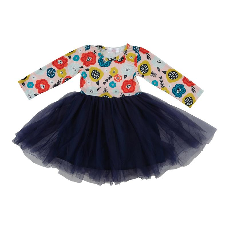 Mila & Rose Retro long sleeve TuTu Dress