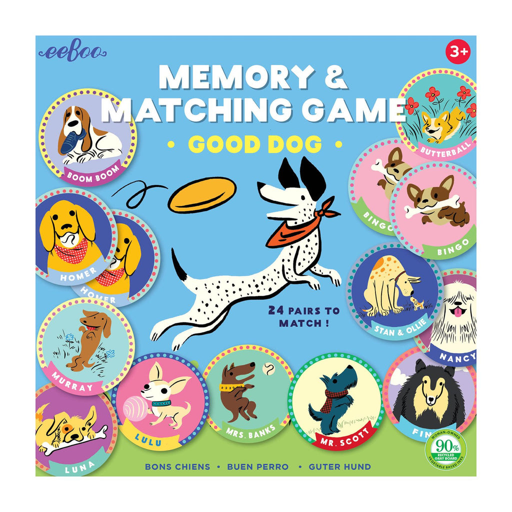 eeBoo Memory & Matching Game - Good Dog