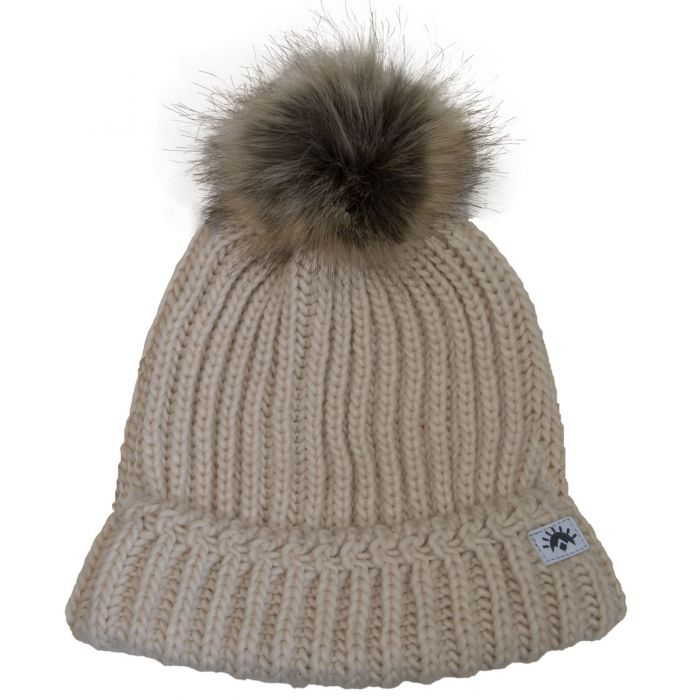 Calikids Knit Pompom Me & Mom - Cream