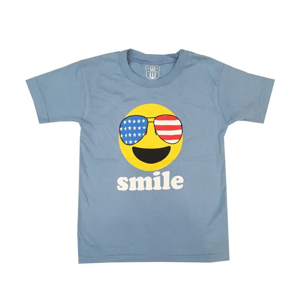Wes and Willy Smile Short sleeve T-Shirt - Cobalt