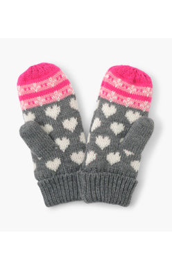 Hatley Winter Mittens - Winter Hearts