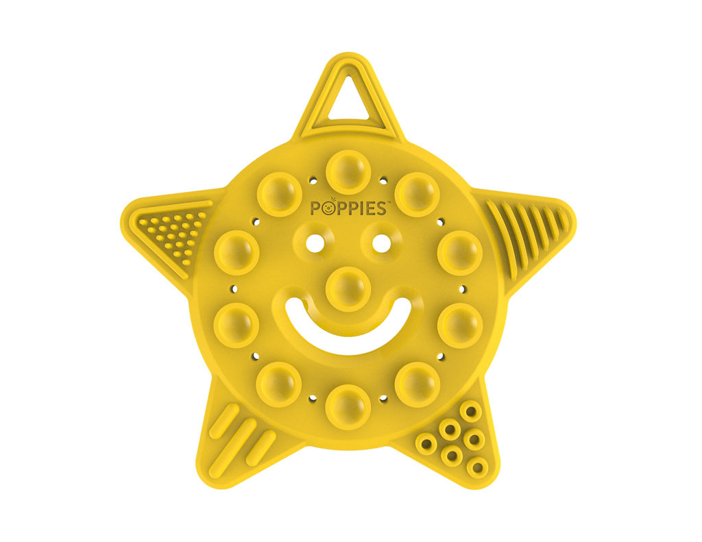 Poppies Teether - Smiley the Star