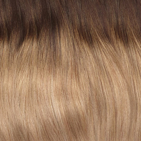 Volumizer: Cream Balayage quad weft extensions