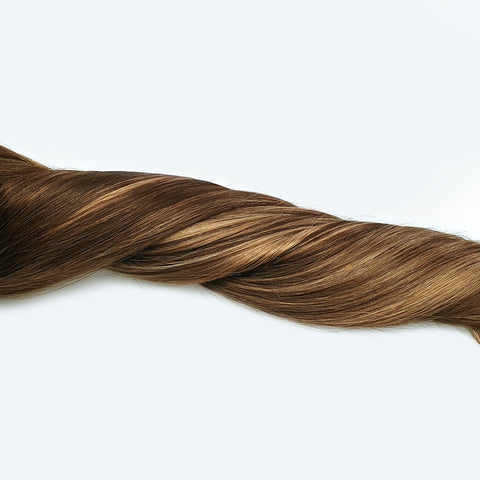 Volumizer: Bronde Balayage quad weft extensions 🎇