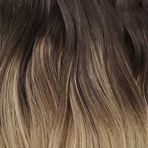 Volumizer: Chocolate Balayage quad weft extensions 🍪