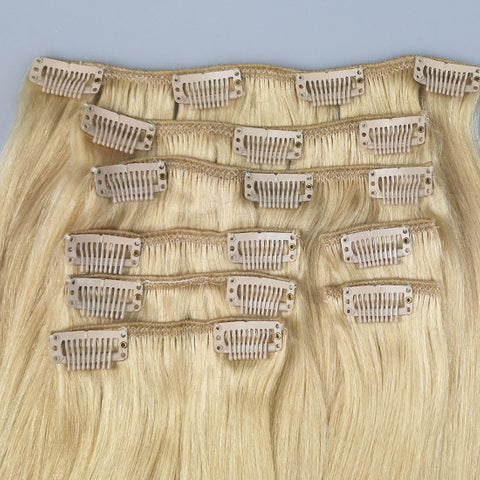 Full head set: Bleach Blonde hairextensions ✨