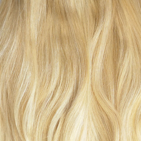 Volumizer: Bleach blonde quad weft extensions ✨