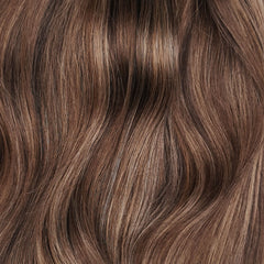 Volumizer: Bruine highlights quad weft extensions 🍂