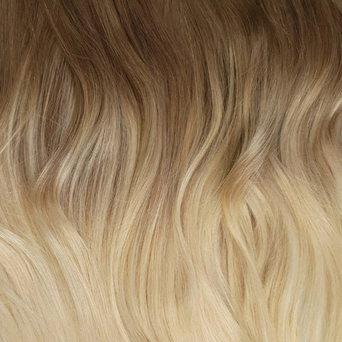 Volumizer: Cappuccino Balayage quad weft extensions ☕