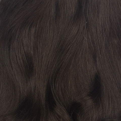 Volumizer: Donker Bruine quad weft extensions 🤎