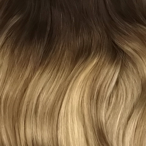 Volumizer: Honey ombre quad weft extensions 🍯