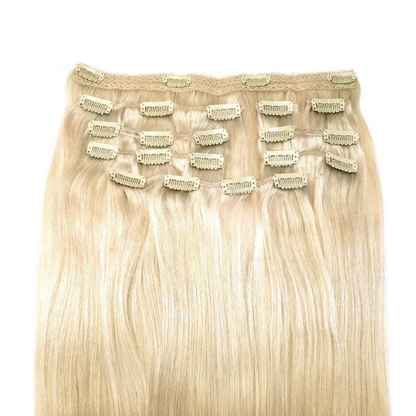Full head set: Platina Blonde hairextensions 💍